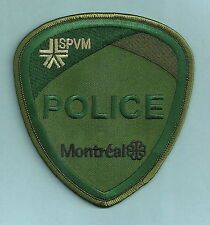 MONTREAL QUEBEC CANADA SPVM POLICE SWAT TEAM PATCH GREEN