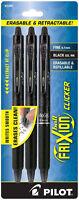 Pilot Frixion Ball Clicker Erasable Black Gel Ink Pens Fine 0.7mm Retractable