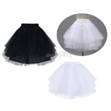 Women Swing Petticoat Tulle Tutu Retro Skirt Vintage Fancy Bridal Underskirt AU