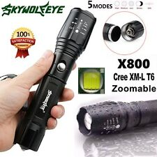 Tactical 10000 Lumens CREE XM-L T6 LED 5Modes Police Flashlight Torch Zoom Lamp