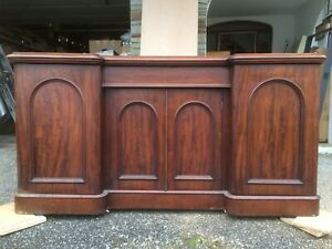Antique late Victorian mahogany sideboard
