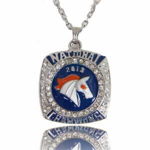USA Denver Broncos 2013 Pendant Necklace Championship Ring Inspired
