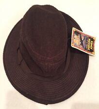 Youth Indiana Jones by Dorfman Pacific Crushable Brown Wool Felt Fedora Hat XS