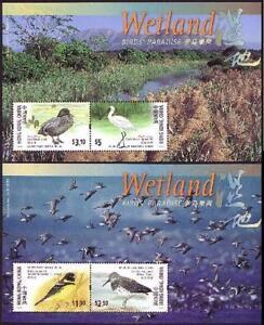 China Hong Kong 2000 Wetland Stamp S/S x 2 Bird