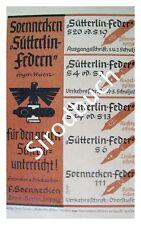 Originalwerbung Reklame Soennecken Sütterlin Federn 1943