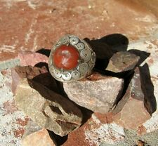 ANTIQUE TURKOMAN CARNELIAN  RING TRIBAL BELLY DANCE GYPSY BOHO W/ FREE SHIPPING