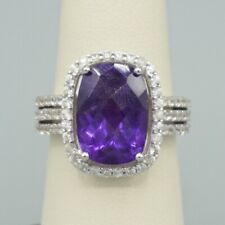 Ladies Sterling Silver & Amethyst Size 7 Ring! 181
