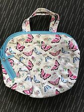 Ladies Cute Butterfly Pattern Lined Cosmetic HandBag By Models Prefer - Cheap