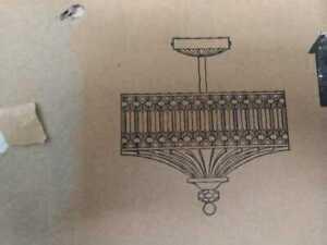 "River of Goods Beveled Jeweled Glass 15.25""H Semi-Flush Light"