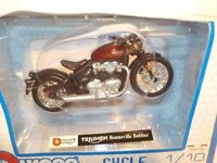 Motorbikes, Triumph Bonneville Bobber,  New & Sealed 1/18