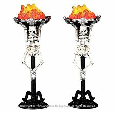 Lemax 04215 CORPSE TORCH (2) Spooky Town Lighted Accessory Halloween Decor I