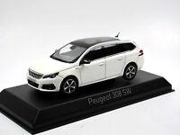 Norev 473818 - 2017 Peugeot 308 SW GT Line - Pearl White - 1/43