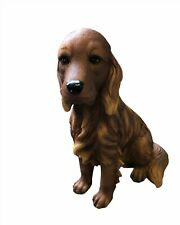 More details for large sitting irish setter dog statue by best of breed red brown irish setter