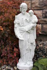 St. Joseph Outdoor Garden Statue 25 inch Holding Child Jesus Indestructible PVC