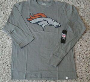 Denver Broncos 47BRAND Men's Gray Long Sleeved Shirt