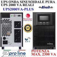GRUPPO DI CONTINUITA' UPS 2000VA 1800W ONLINE ONDA SINUSOIDALE PURA DVR PELLET