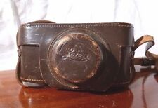 Vintage Wartime E Leitz New York LEICA III a b c Leather CAMERA CASE ELMAR 50mm