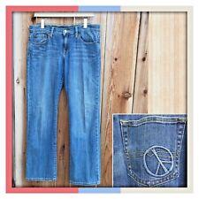 Lucky Brand PEACE Easy Rider Boot Stretch Denim Jean Women Sz 6/28 x 32 MRS $115