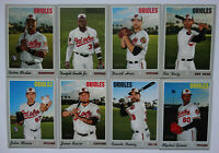 2019 Topps Heritage High Number Baltimore Orioles Team Set 8 Cards W/ SP