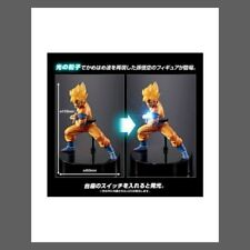 DRAGON BALL Z Figurine SON GOKU SAIYAN KAMEHA LED PREMIUM HG 12 cm DBZ BANDAI