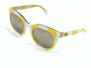 Authentic DOLCE & GABBANA DG4249 3025/5A Yellow/White/Gray Mirrored Sunglasses