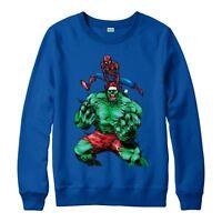 Avengers Christmas Jumper, Hulk Spiderman Xmas Festive Adult & Kids Jumper Top