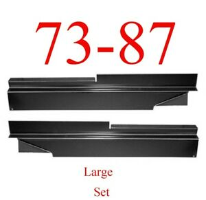 73 87 Chevy Large Inner Rocker Panel Set, GMC Truck Suburban Blazer Both Sides!