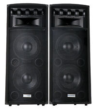 "MCGREY 2x12"" DJ PA DISCO SPEAKERS PAIR PASSIVE PARTY TOWER LOUDSPEAKERS 2x 800W"