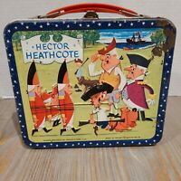 Vintage Hector Heathcote Metal Lunch Box 1964 Aladdin - NO THERMOS