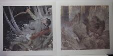 Legolas + The Black Gate is Closed 2 Prints by Michael Kaluta  Lord of the Rings