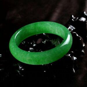 Handmade 100% Natural Green HighQ A+ JADE Jadeite Bangle Bracelet Women UK