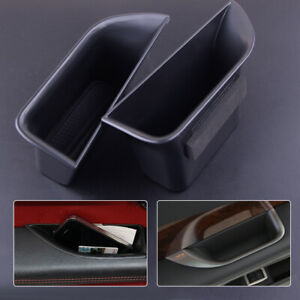 Door Box Tray Case Fit for Jaguar XF 2008-2015 2Pc Secondary Storage Accessories