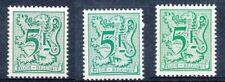 [151891] SUP||**/Mnh || - N° 1960+P7+P7a, 5F vert, type chiffre sur lion et band