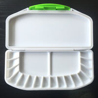 SUPVOX Paint Pallet Art Palette Empty Watercolor Palette Cup Brush Oil Paint Mixing Tray Folding Airtight 33 Wells Box for Student Beginner Artist