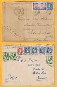 X757 Algeria 12 different stamped covers postcard UK Europe;  1922 - 1950