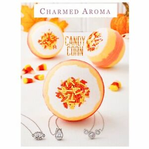 Charmed Aroma Limited Edition Candy Corn Necklace Bath bomb