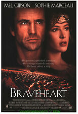 BRAVEHEART MOVIE POSTER Original DS 27x40 International Style MEL GIBSON 1995