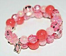 PASTEL PINK beads ~ Handmade Beaded Wrap Bracelet ~ Perfect Gift!