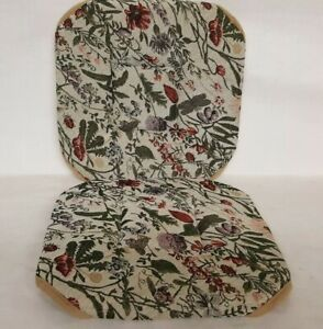 floral meadows tapestry chair pad set of 2