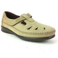 SAS Women's Leather Nubuck Shoe Size 10.5M Tripad Comfort Roamer Moc Loafer Tan