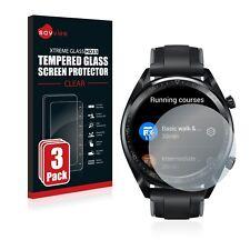 3x Huawei Watch GT / GT Active Echt Glas Panzerfolie 9H Schutzpanzer Glasfolie