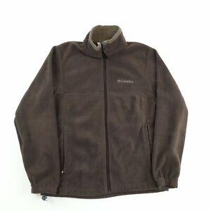 Columbia Fleece Jacket Brown M Full Zip