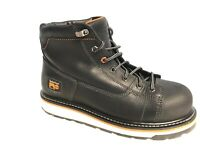 "Timberland PRO A1B4K Men's 6"" Gridworks Alloy Toe Black Leather Work Boots SZ 10"