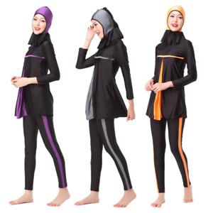 Modest Muslim Islam Swimwear Swimsuit Burkini Burqini Halal Two Piece Women Girl