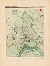 ANTIQUE MAP-NETHERLANDS--BEMMEL 1-GELDERLAND-KUYPER-1865