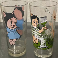 Petunia And Porky Pig Pepsi glass Collector Series 1973 Warner Brothers