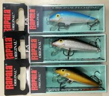 RAPALA original Floating  F5-S, F5-B, F5-G lote 3 Rapala - lot 3 lures