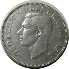 elf Canada 50 Cents 1950 Lines in 0  George VI