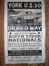 "(586) DRAG STRIP YORK US30 HOT ROD GASSER GARAGE RACING POSTER 11""x17"""