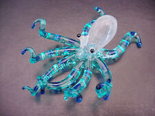 Curio Glass OCTOPUS, SQUID Colourfully Painted Ornament Delicate Decorative Gift